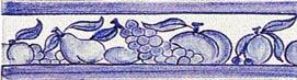 Frise fruits bleus