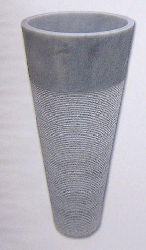 Vasque colonne conique striée Afyon gris