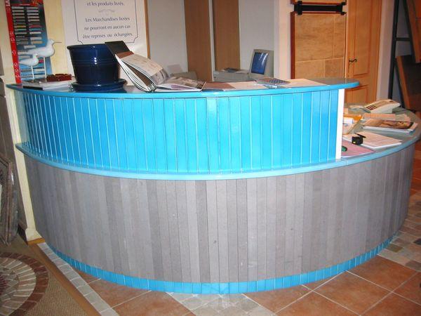 Bureau Lave turquoise